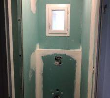 Placo toilettes en cours