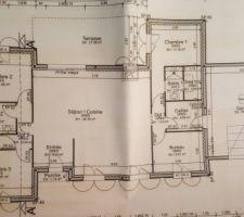 Plan de notre maison mais je souhaite le modifier