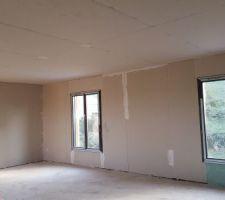 Plafond et isolation des chambres de l'étage