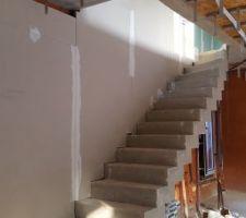Isolation de la descente d'escalier