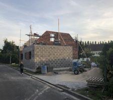 Parpaing + brique IRENE de chez vandersanden