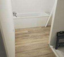 Salle de bain, lames pvc clipsables GERFLOR