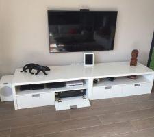 Modification meuble tele