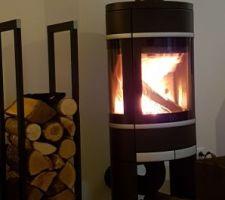 Poêle à bois Scan installé, l'hiver peut arriver nous sommes prêts pour des petites flambées.