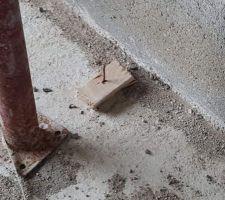 Aperçu d'un morceau de bois avec un clou en l'air (il y en avait plusieurs un peu partout dans la maison)