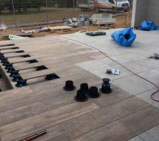 Terrasse en cours de réalisation
