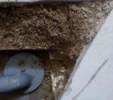 Surprise le plombier n'a pas coller les évacuation du lavabo