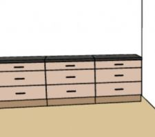Idée d'aménagement de tiroirs dans la chambre parentale