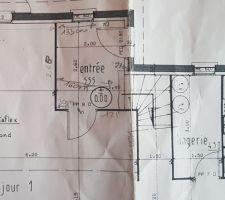 Plan de l'entrée actuelle (avant travaux)