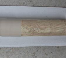 L'outil en place dans le manchon qu'il faut retirer une fois le PVC refroidi.
