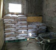 Rangement de la livraison, 5 palettes, (5,4tonnes) 360sacs de 15kgs