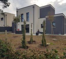 Plantation de nos arbres... en cours mais bientot terminé