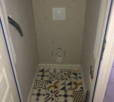 Carrelage WC RDC (sous l?escalier)