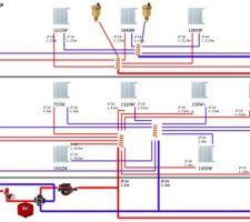 Réalisation d'un réseau pieuvre pour chauffage central en multicouche.