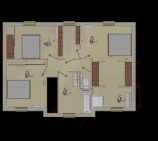 Plan étage pour ameublement