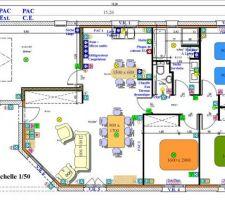 Un des premiers plans pour les besoins électriques de la maison.