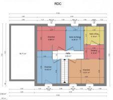 Voici le plan de l'étage de notre maison, donnez votre avis :)