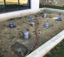 Terrasse - plots de fondation