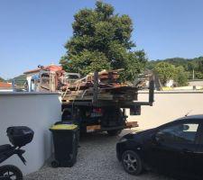 Terrasse - livraison du bois