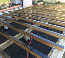 Terrasse - pose des lambourdes