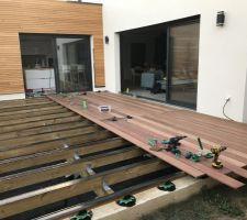 Terrasse - pose en cours