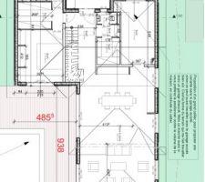 Plan d'une architecte