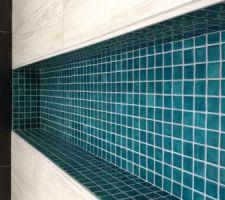 Détail niche dans la douche