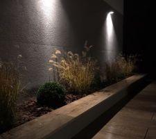 Bac à plantes sur terrasse
