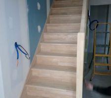 Pose de l'escalier terminée
