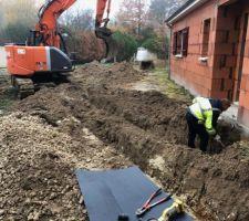 Mise en place réseau récupération eaux de pluie et raccordement à l assainissement