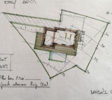Croquis Maisons OXYGENE   Implantation de la maison sur le terrain