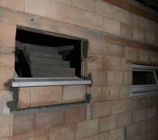 Fenêtre escalier remontée