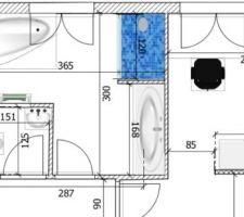 Choix définitif agencement salle de bains