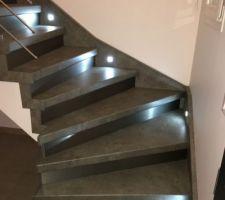 Réalisation de l?escalier par la société escal concept.