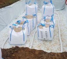 Livraison du 20/40 pour le drainage sous dalle