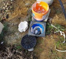 Vue compteur d'eau ouvert