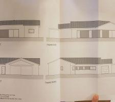 Vue façades de la maison