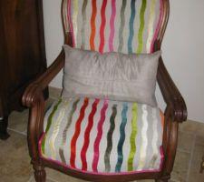 Changement du tissu des fauteuils pour un look plus moderne