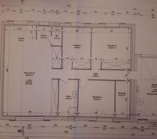 Voilà les plans de notre maison de plein pied de 89m2
