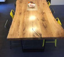 Table a manger faite par mes soins de A à Z. pieds inclus