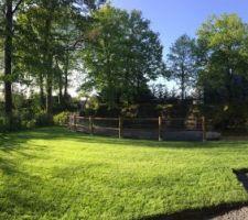 Jardin au petit matin
