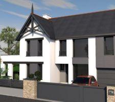 Vue 3D de la façade