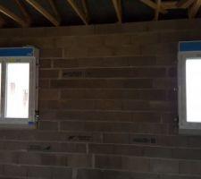 Fenêtres de la chambre et de la salle de bain