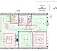 Plan de calepinage du plancher chauffant
