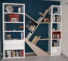 Bibliothèque moderne de chez Meuble Gautier