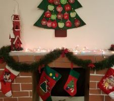 Comme il n'y a paspasde Corton cheminée pour le père NoëlNoël, on en a créecréé une...