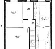 Plan provisoires : 1er étage