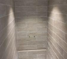 Douche en cours