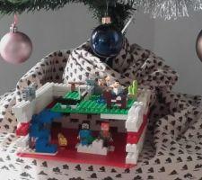 La crèche construite avec des légos
