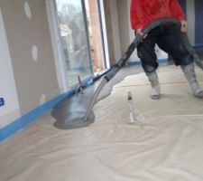 Pose chape liquide sur toute la surface maison